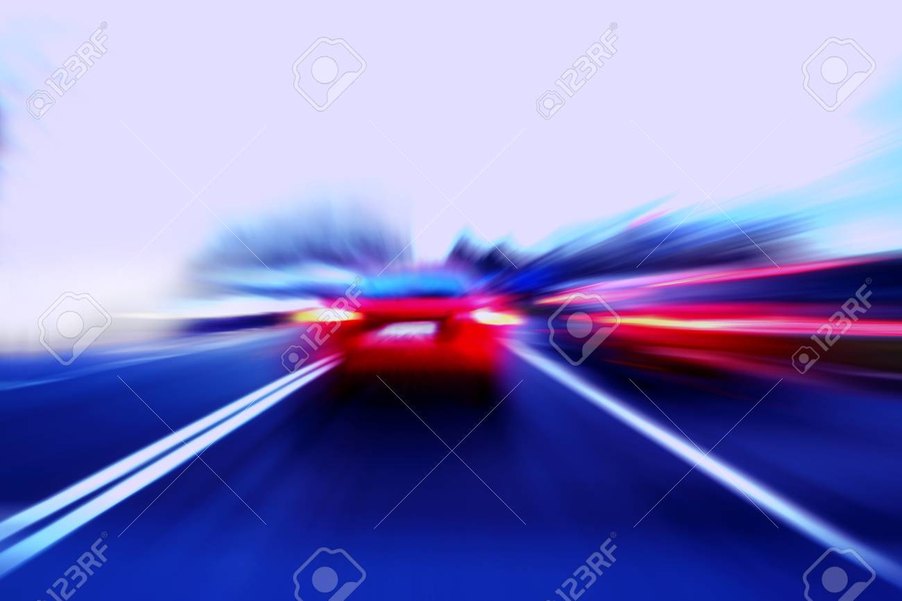 speed motion car on street Stock Photo - 15817032