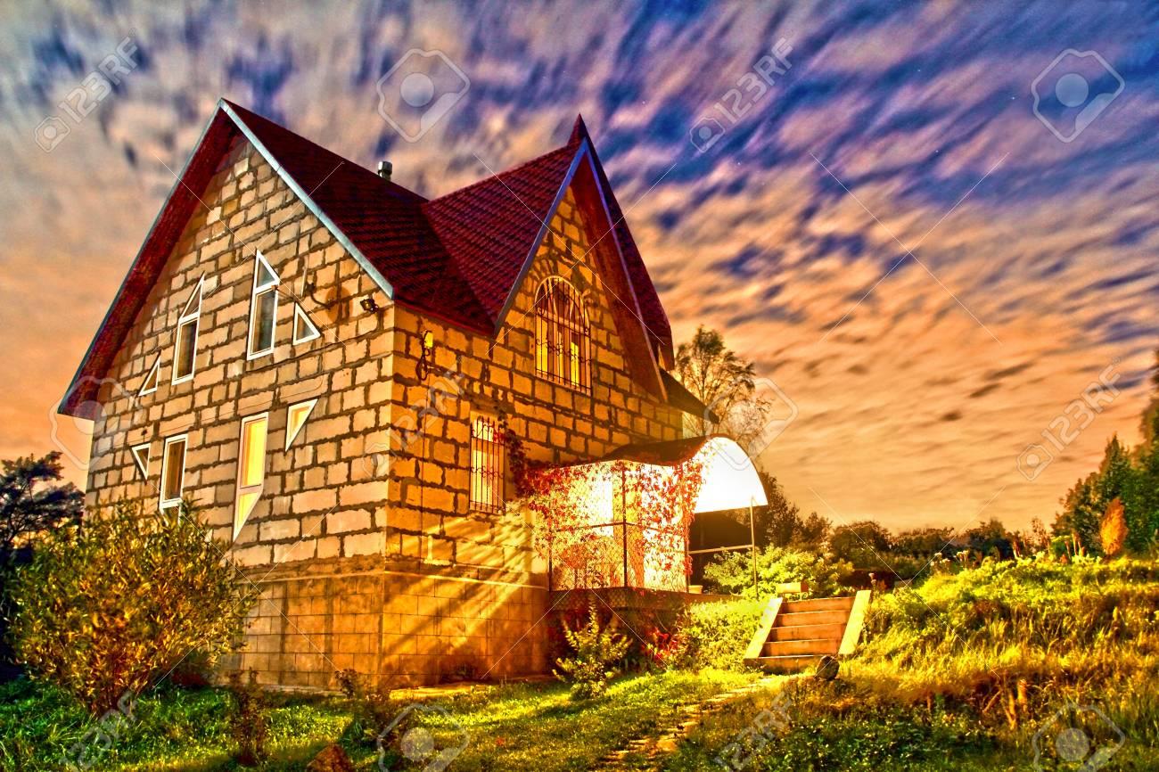 stone house at sunset Stock Photo - 15922869