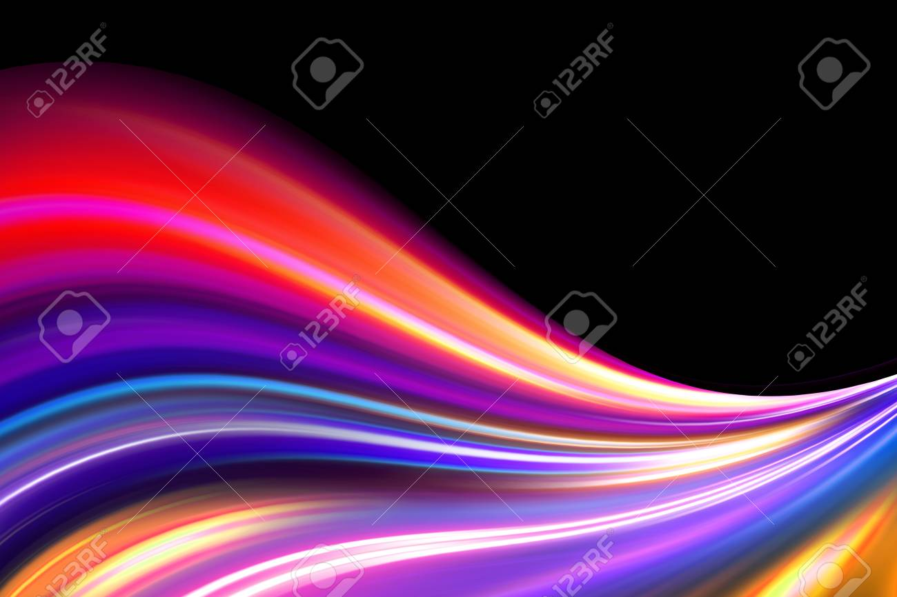 colorful wave Stock Photo - 16234558