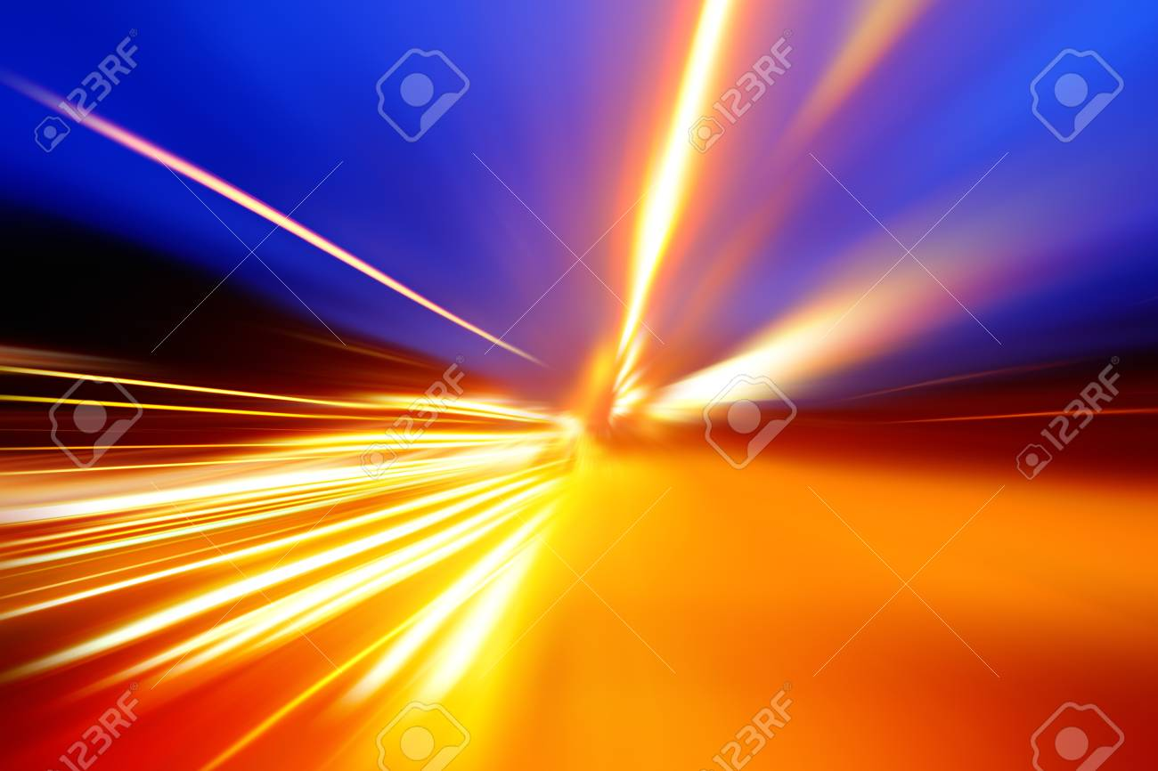 acceleration speed motion on night road Stock Photo - 16931030