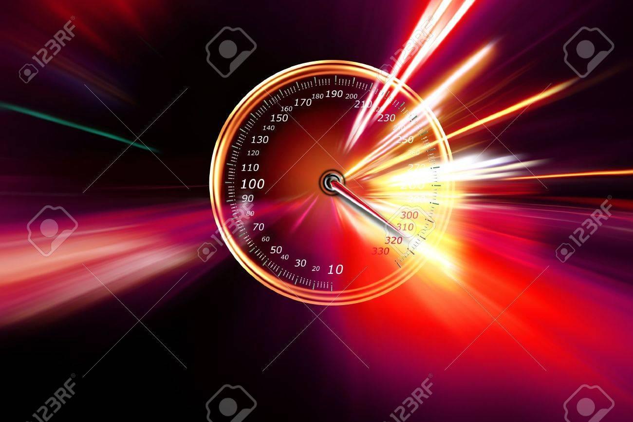 excessive speed on the speedometer Stock Photo - 17259981