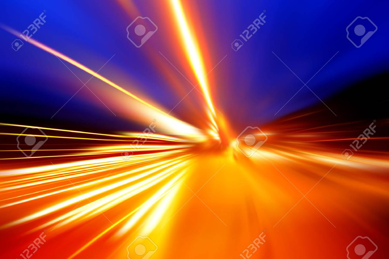 acceleration speed motion on night road Stock Photo - 17335452
