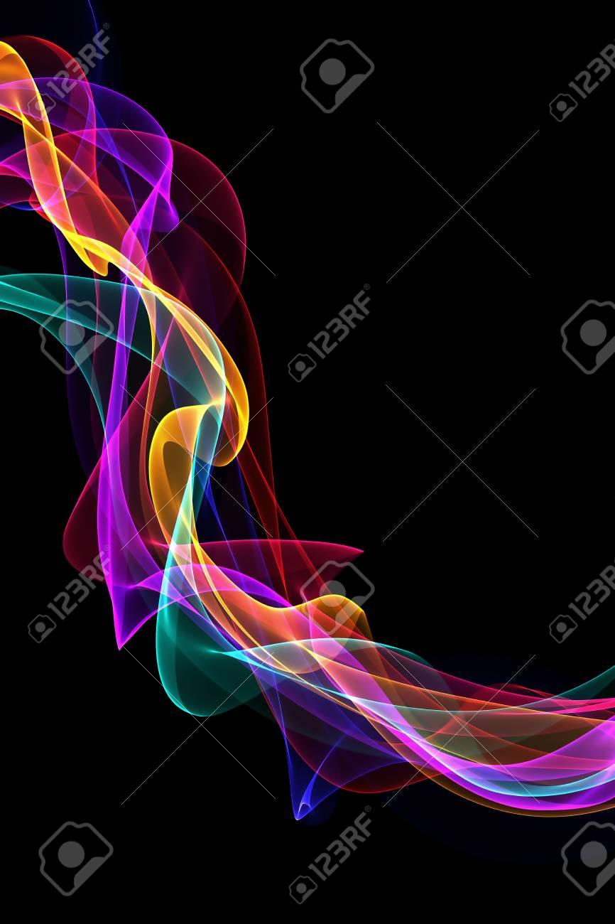 abstract colorful ribbon waves Stock Photo - 20854651