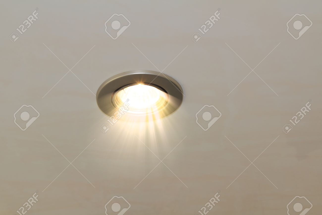 ceiling spot lighting. Radiant Ceiling Spot Lamp Stock Photo - 21535060 Lighting 0