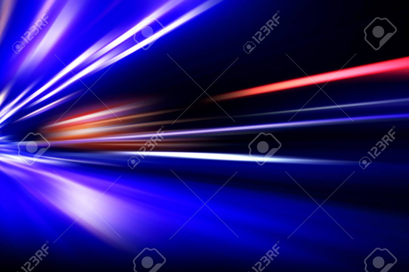 acceleration speed motion on night road Stock Photo - 24664071