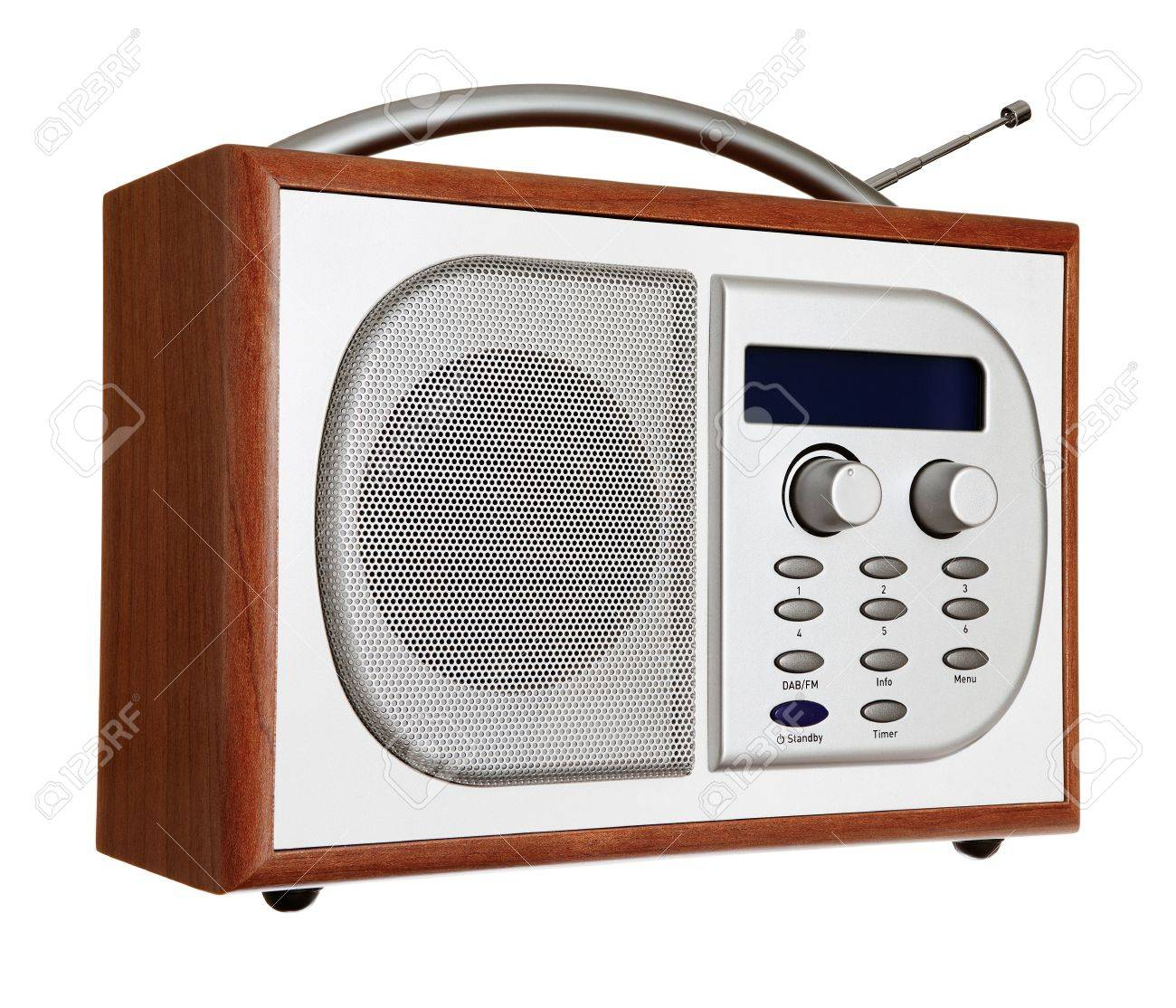 Portable radio isolated against a white background Stock Photo - 6289250