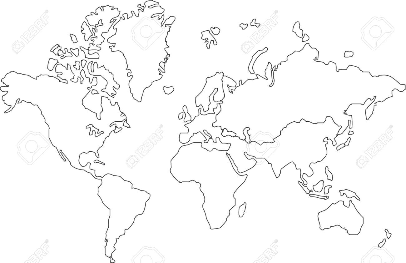 Map of the world line drawing map of the world line drawing vector vector map of the world gumiabroncs Images