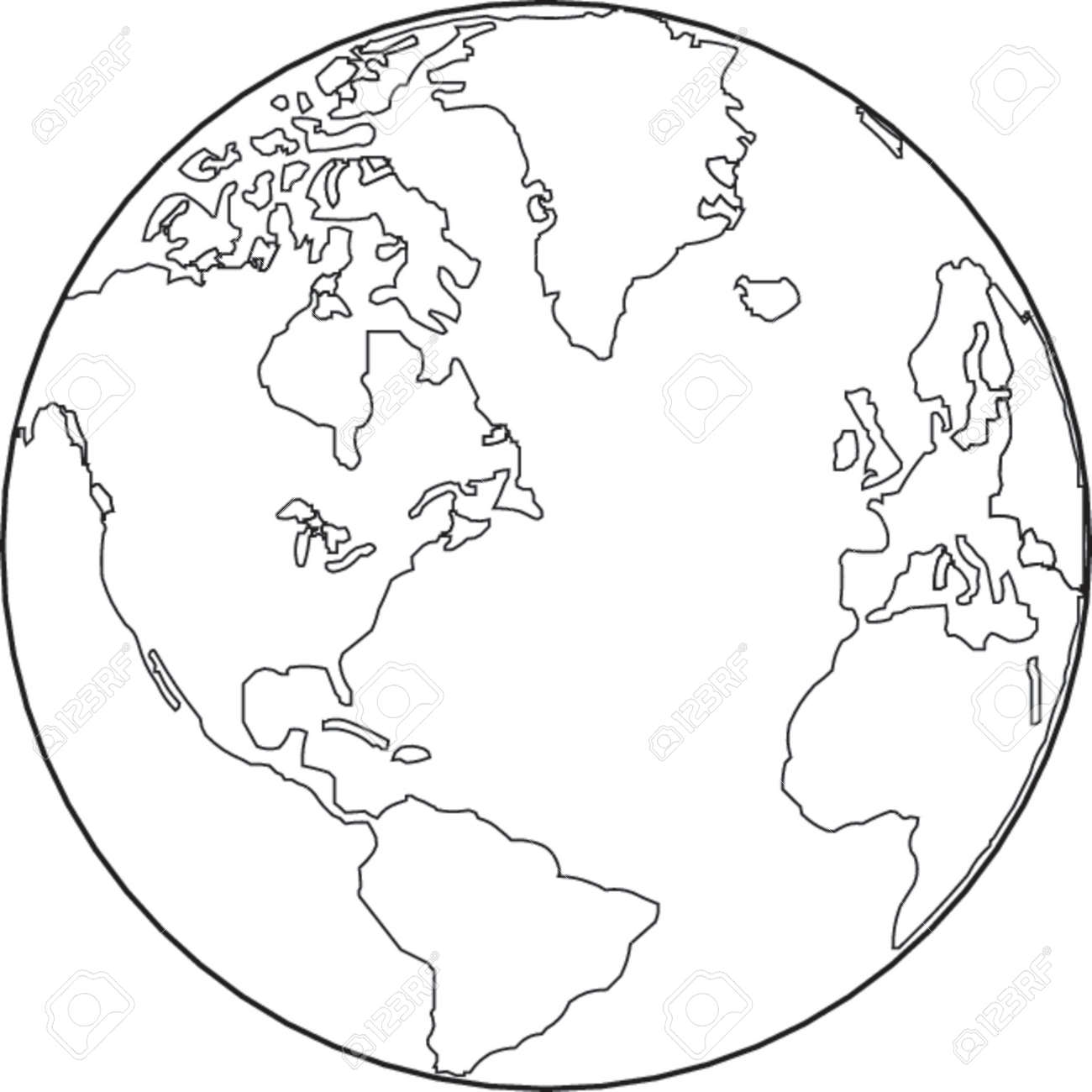 Vector map of the world on the globe royalty free cliparts vectors vector vector map of the world on the globe gumiabroncs Gallery