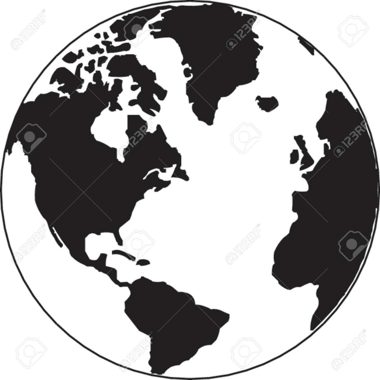 Vector map of the world on the globe Stock Vector - 514909