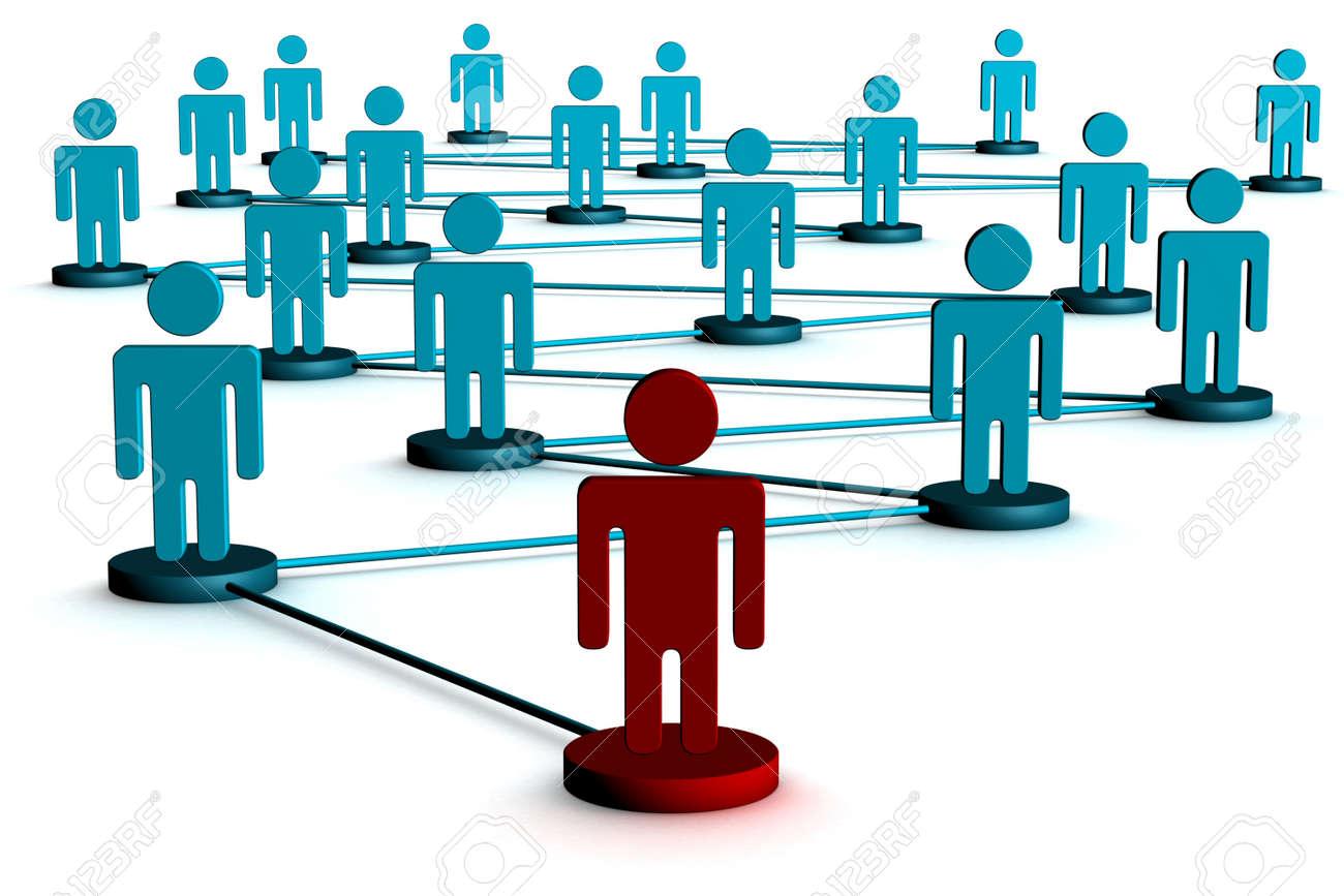 Conceptual image of teamwork. 3D image. Stock Photo - 2596576