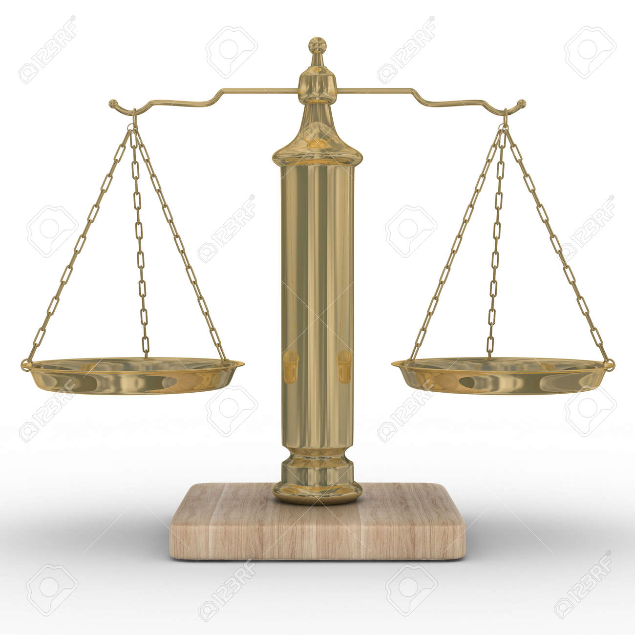 Scales justice on a white background. Isolated 3D image Stock Photo - 4993006