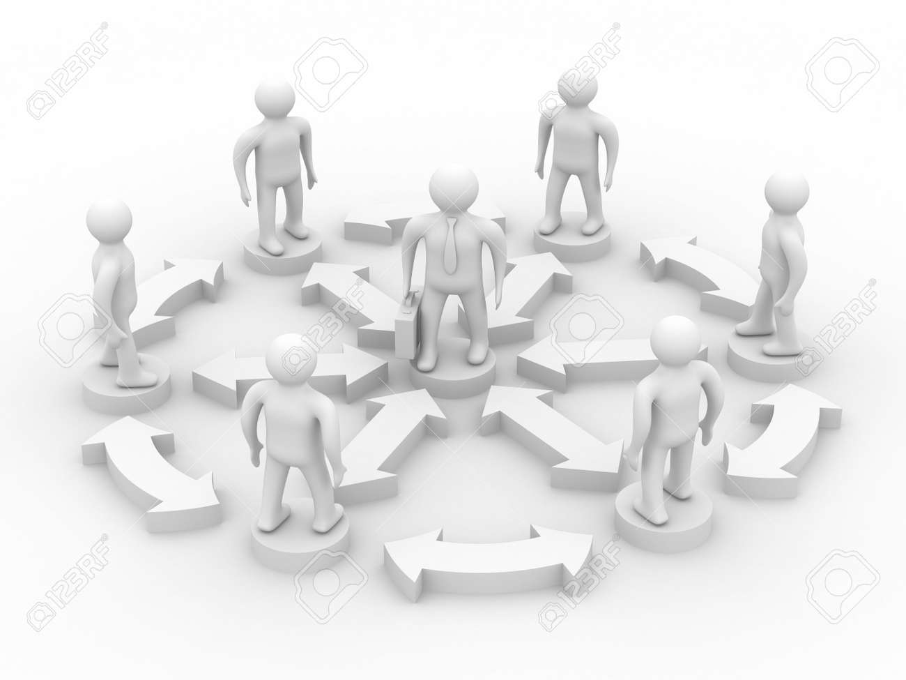 Conceptual image of teamwork. Isolated 3D image. Stock Photo - 5512849