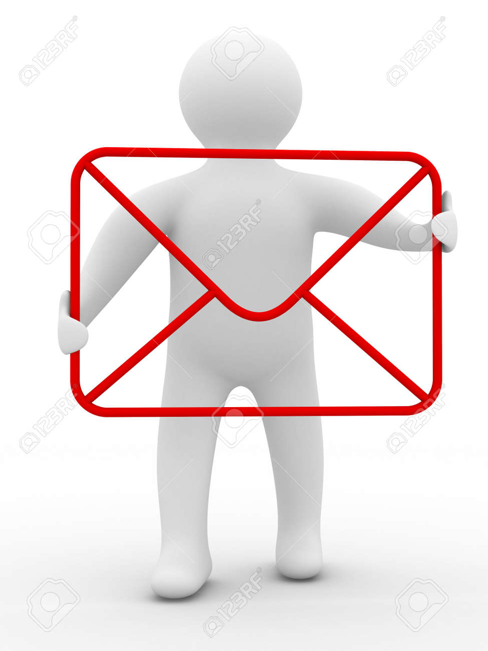 E-mail concept on white background. Isolated 3D image Stock Photo - 5571696