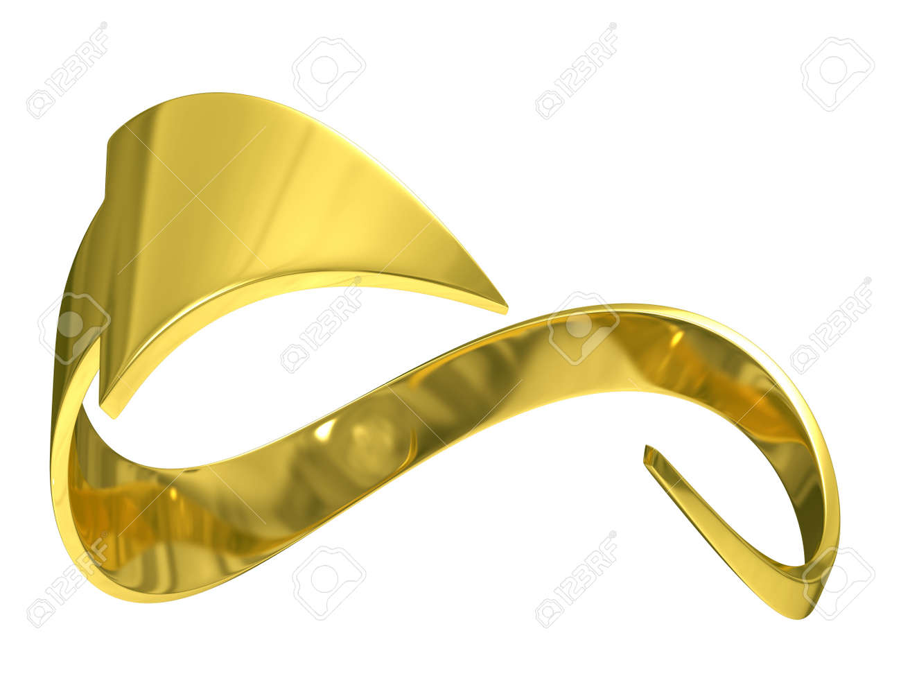 closed gold arrow on white background. Isolated 3D image Stock Photo - 5609192