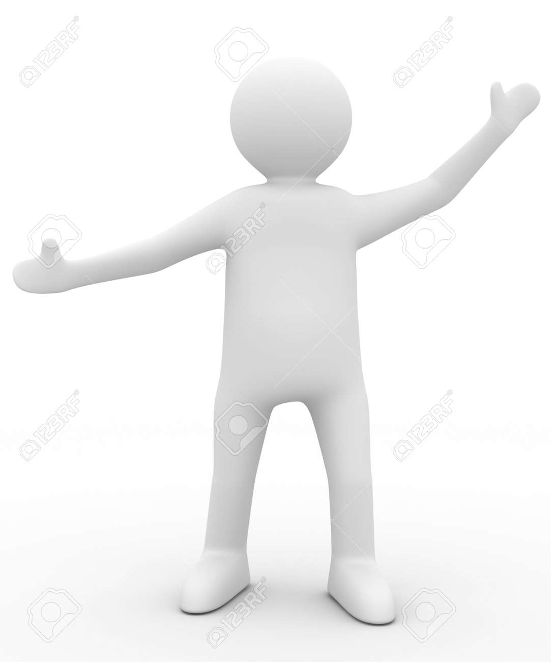 person in greeting pose. Isolated 3D image Stock Photo - 5945588