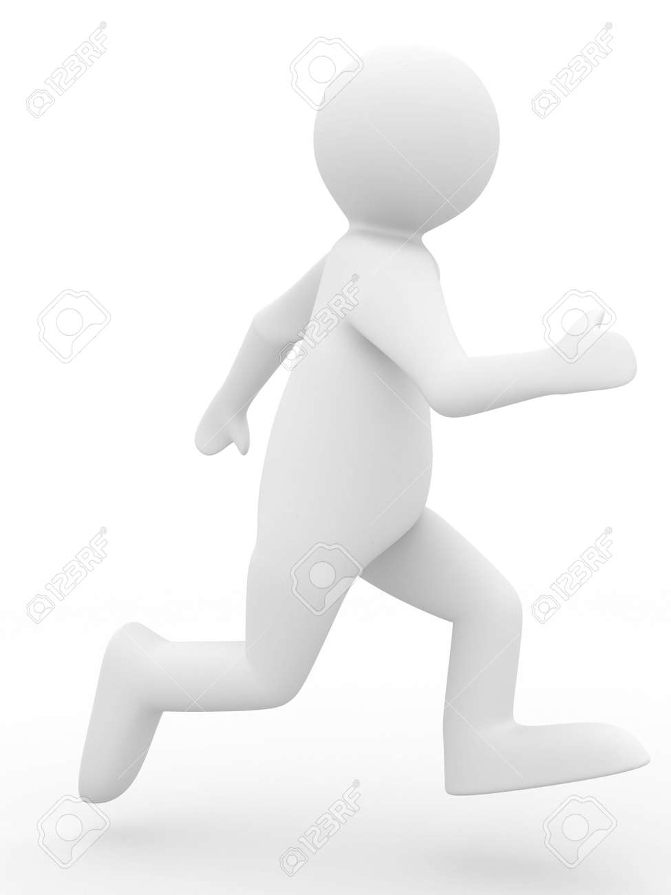 running person on white background. Isolated 3D image Stock Photo - 5945586
