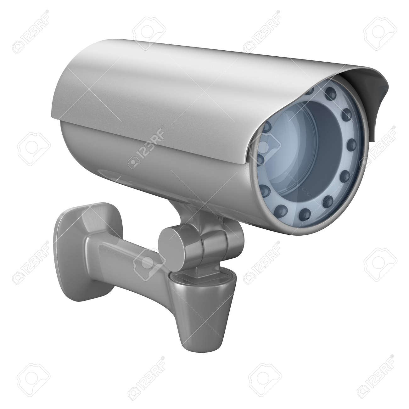 security camera on white background. Isolated 3D image Stock Photo - 6749136