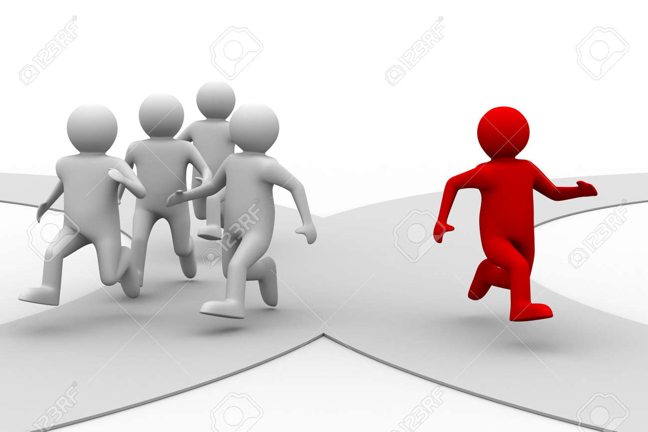 leadership concept on white background. Isolated 3D image Stock Photo - 6773434