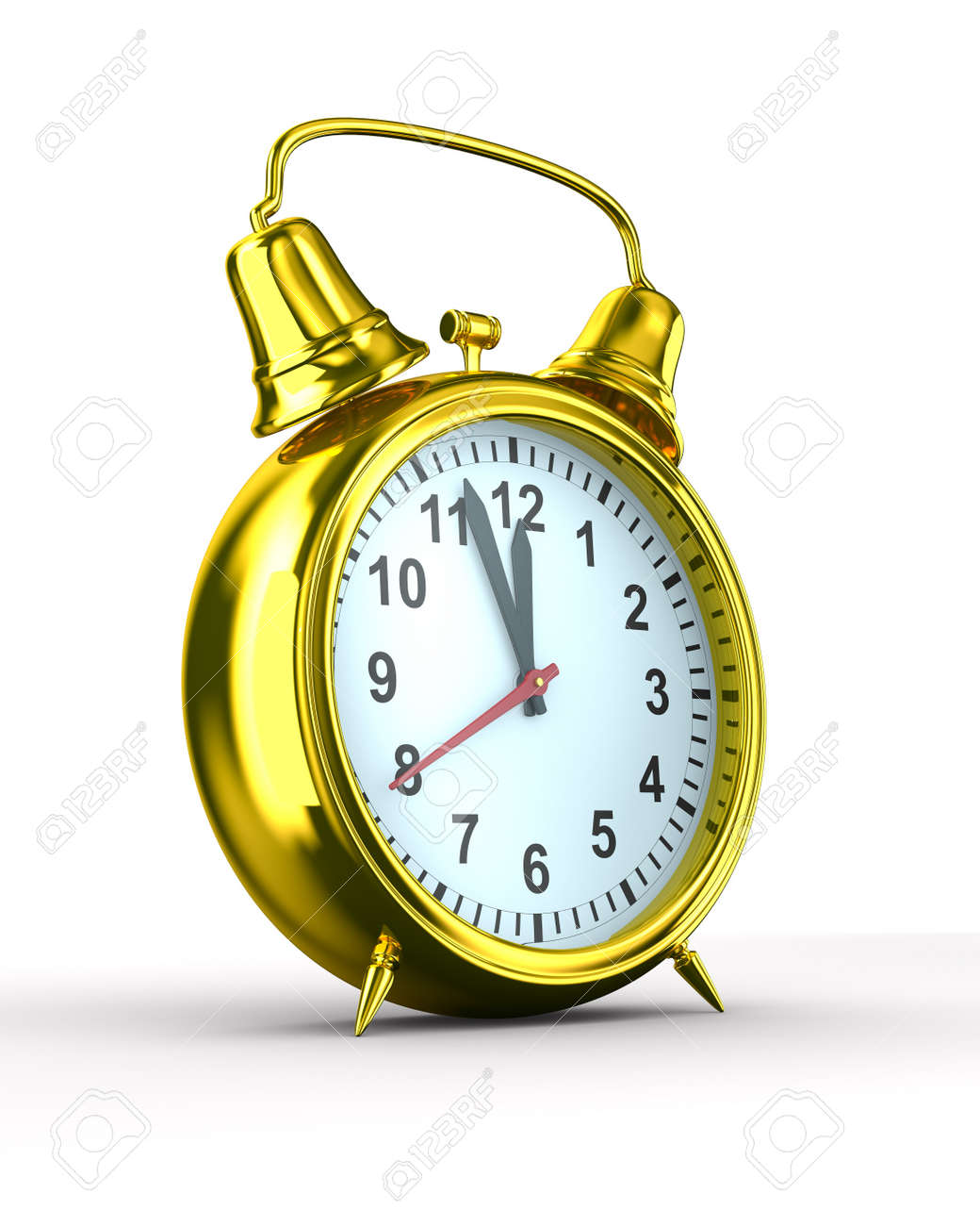 Alarm clock on white background. Isolated 3D image Stock Photo - 7988700