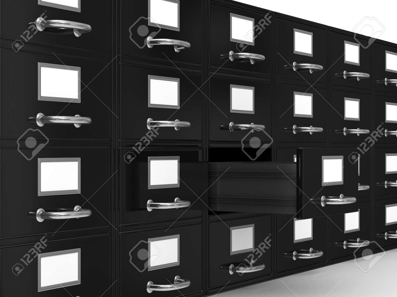 Filing cabinet on white. Isolated 3D image Stock Photo - 8208544