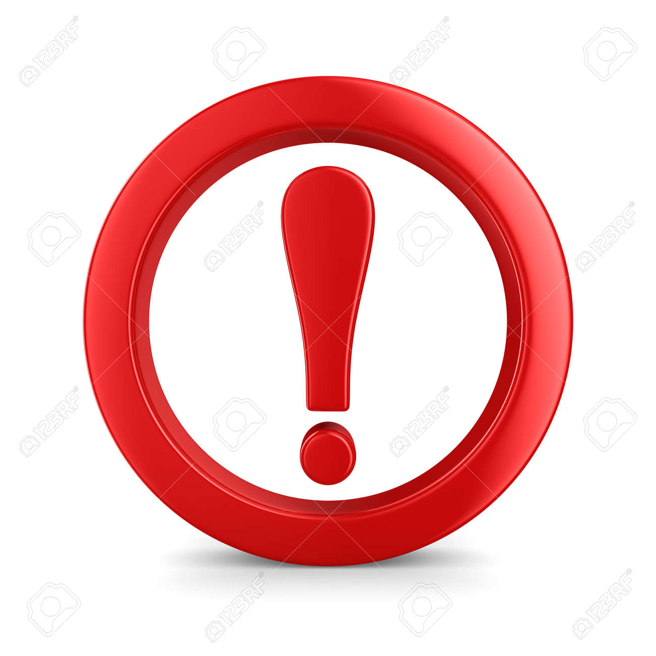 Attention. traffic sign on white background. Isolated 3D image Stock Photo - 8768317