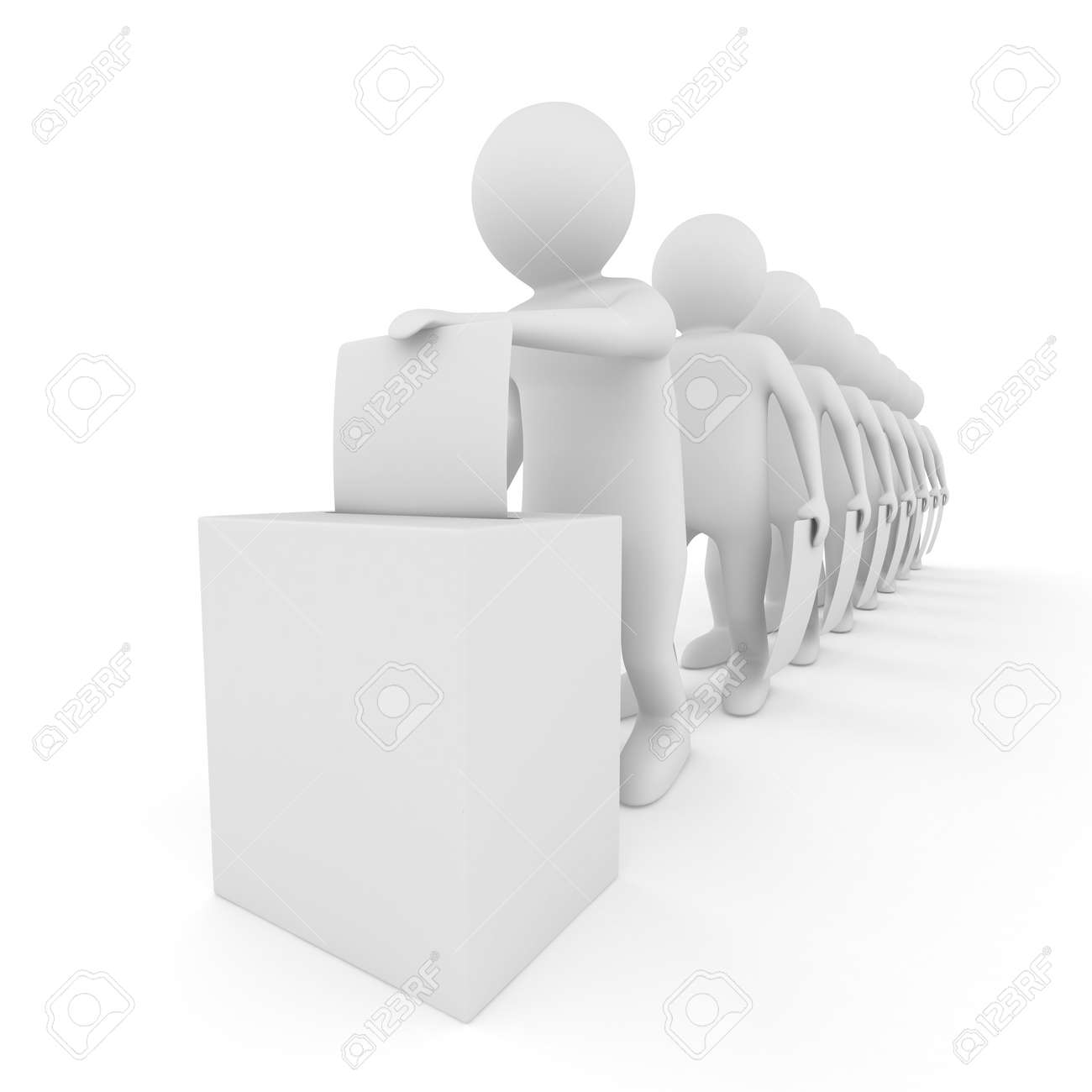 Turn for voting on white. Isolated 3D image Stock Photo - 8970857