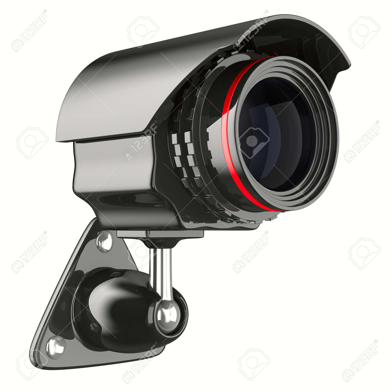 security camera on white background. Isolated 3D image Stock Photo - 9250010