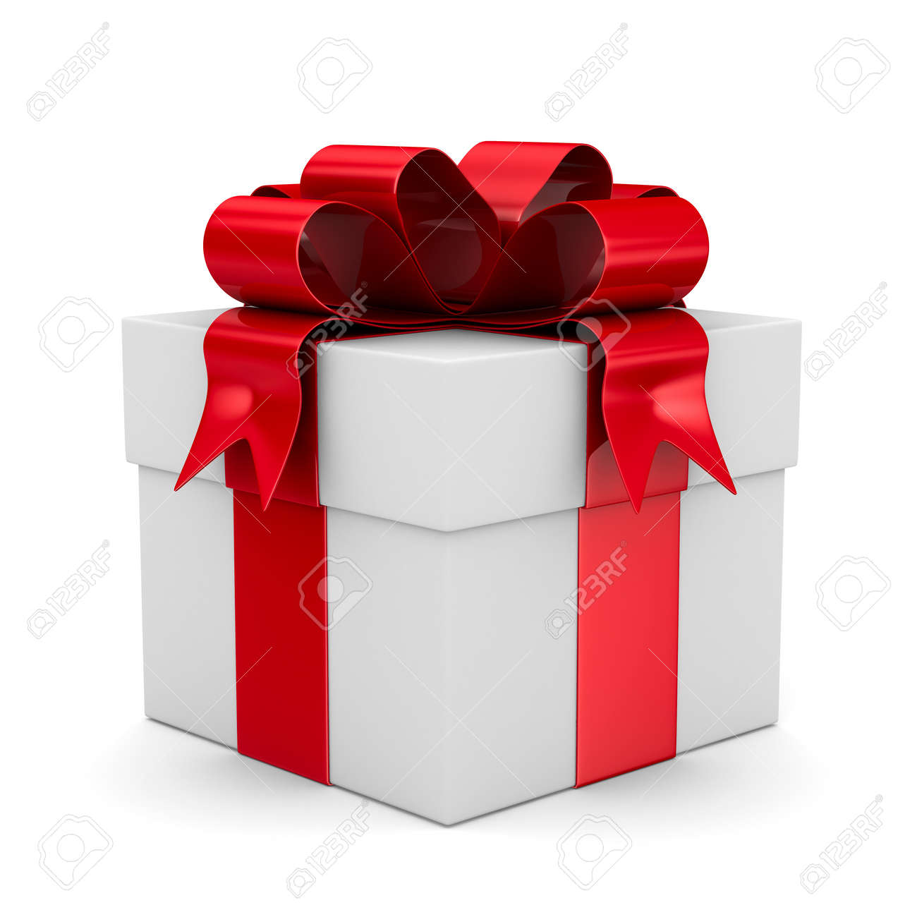 White gift box. Isolated 3D image Stock Photo - 10532176