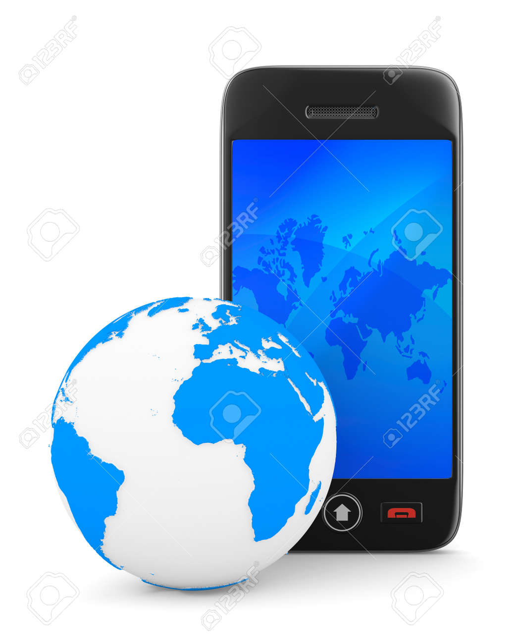 phone on white background. Isolated 3D image Stock Photo - 11340473