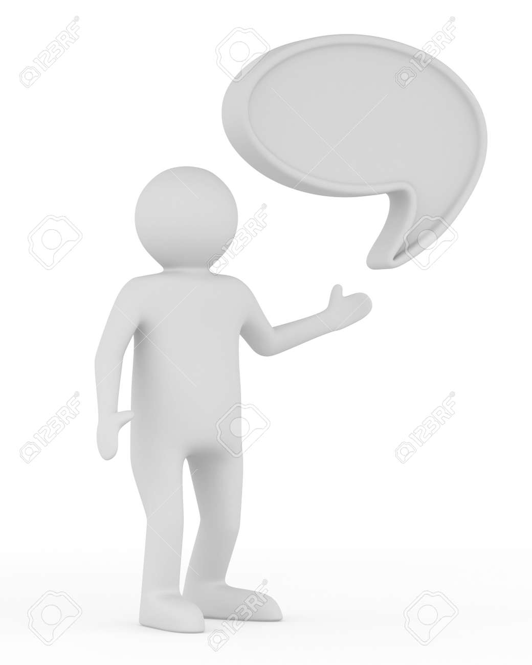 talk balloon on white background. Isolated 3D image Stock Photo - 16030551
