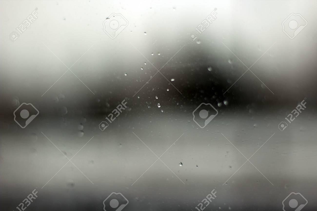 Tröpfchen Nach Einem Bewölkten Abend Dusche Regen Auf Spiegel