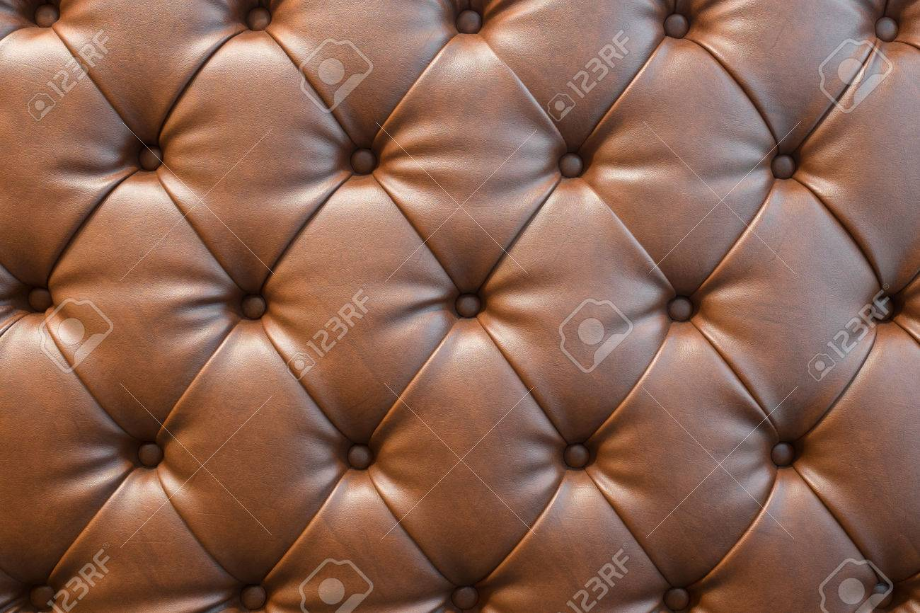 Brown Leather Sofa Texture Background