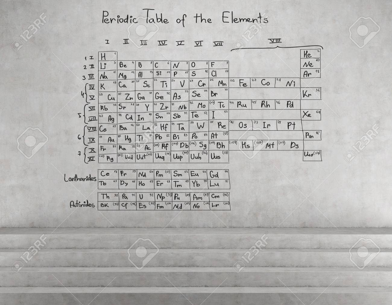 Periodic table of the elements drawing on wall stock photo periodic table of the elements drawing on wall stock photo 36473503 urtaz Choice Image