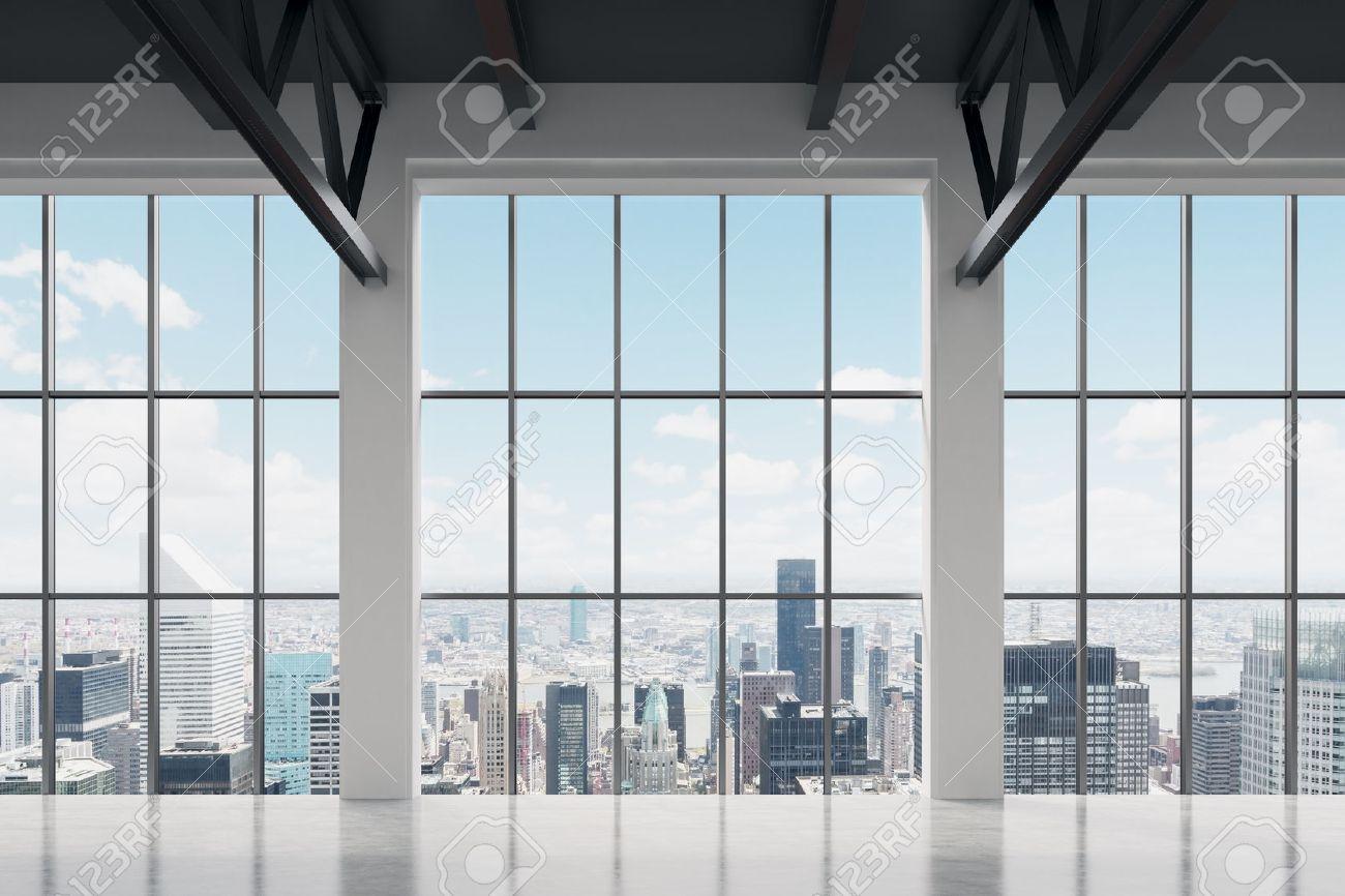 Moderne Büroflächen Mit Blick Auf New York. Ein Konzept Der Finanziellen  Erfolg. Standard