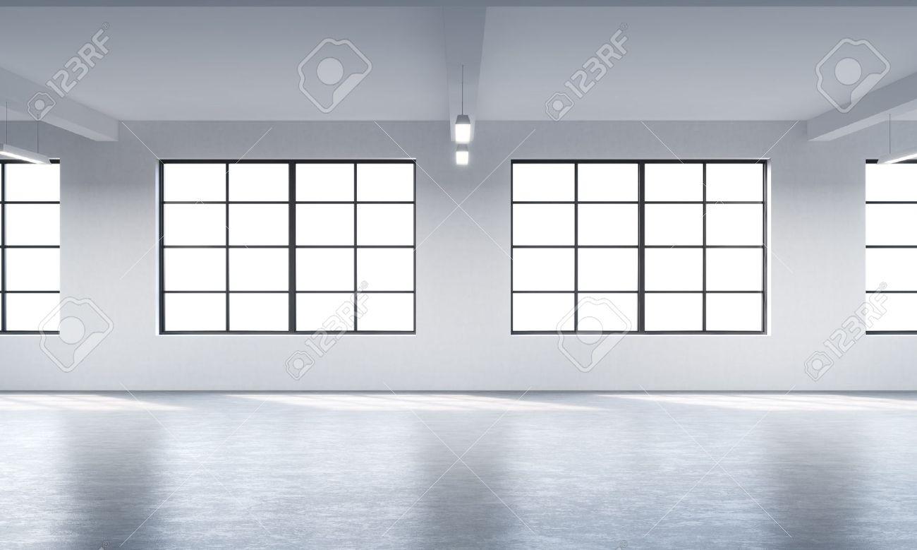 Fenster innenraum  Moderne Helle Saubere Innenraum Einer Loft-Stil Offenen Raum ...