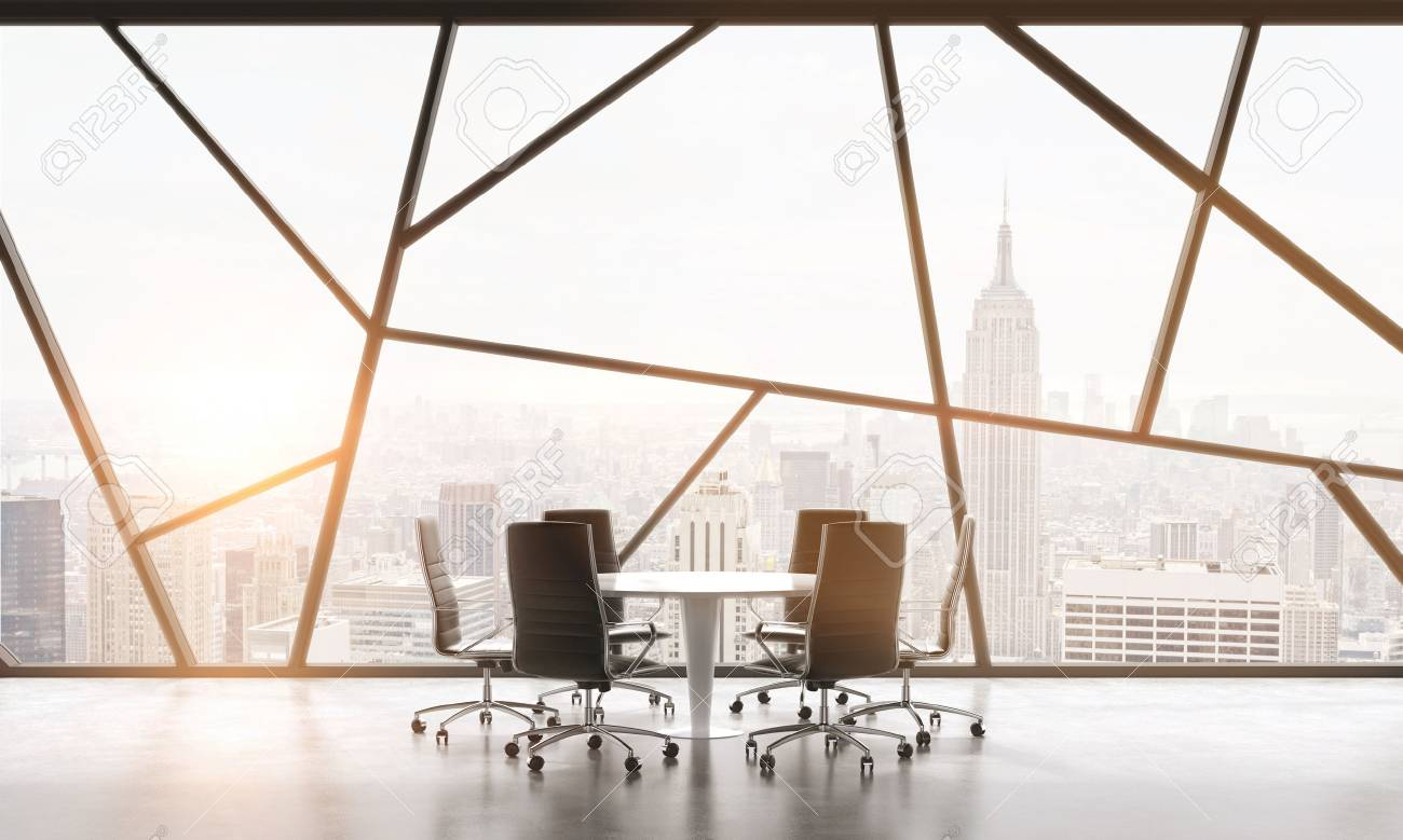 contemporary office spaces. A Meeting Room In Bright Contemporary Panoramic Office Space With New York City View. Spaces U