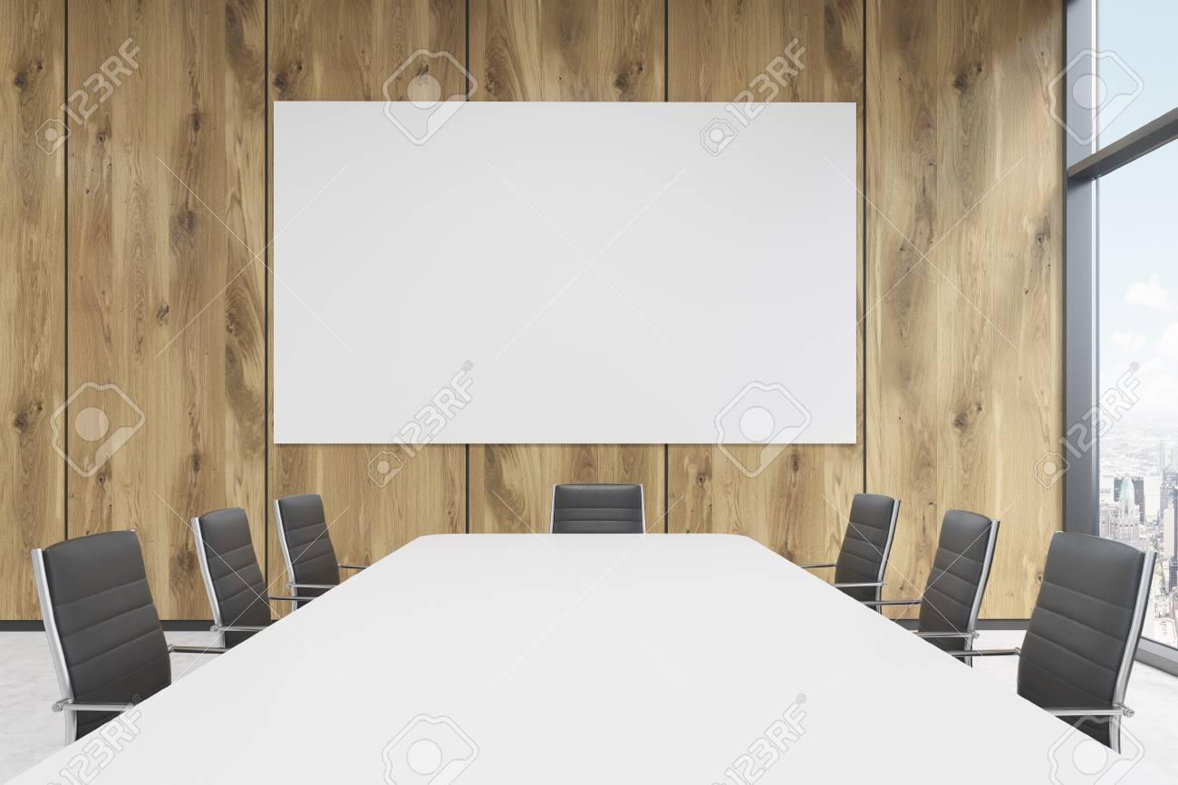 Immagini stock grande sala riunioni poster vuoto sulla parete
