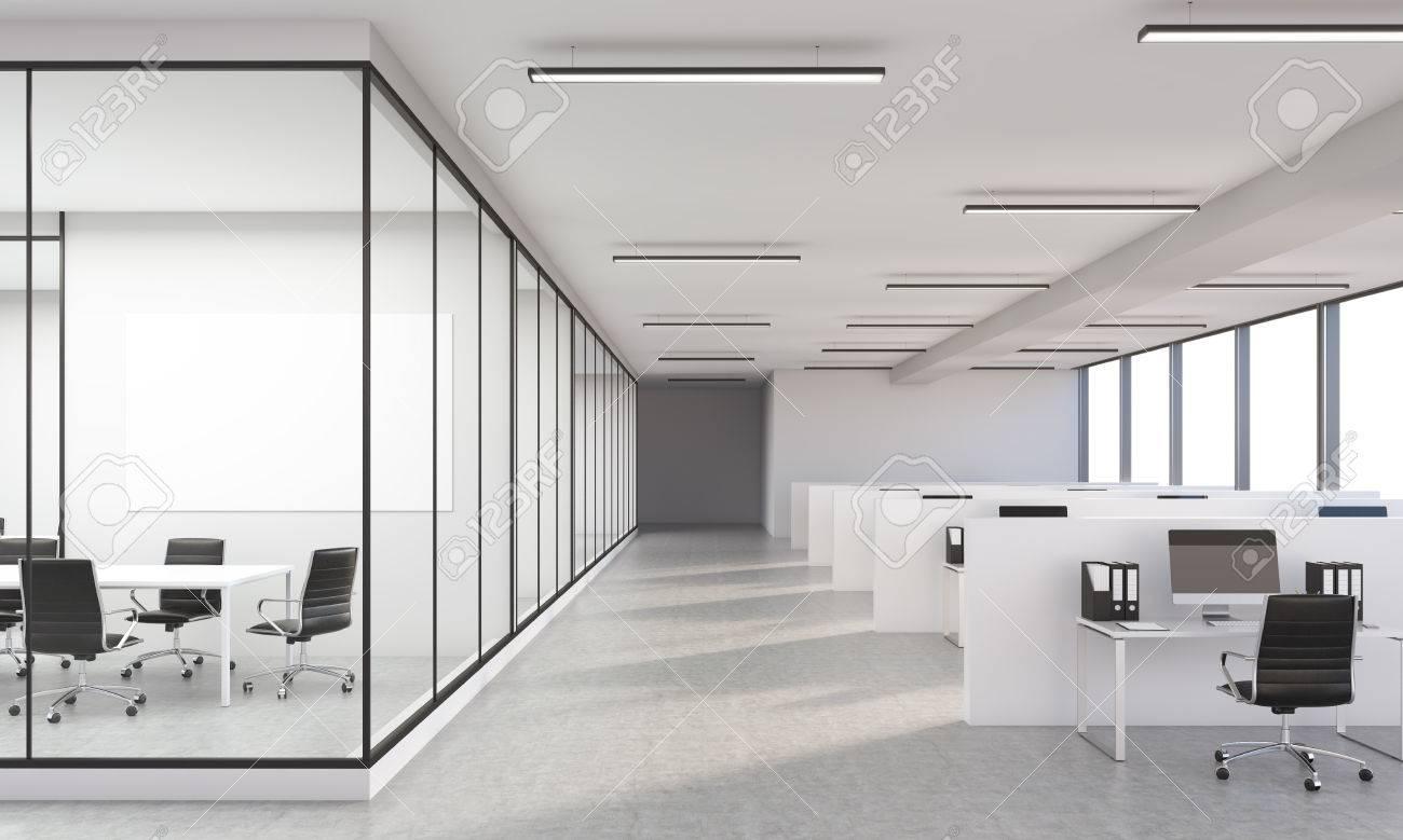 Beton In Interieur : Beton büro interieur mit leeren whiteboard d rendering