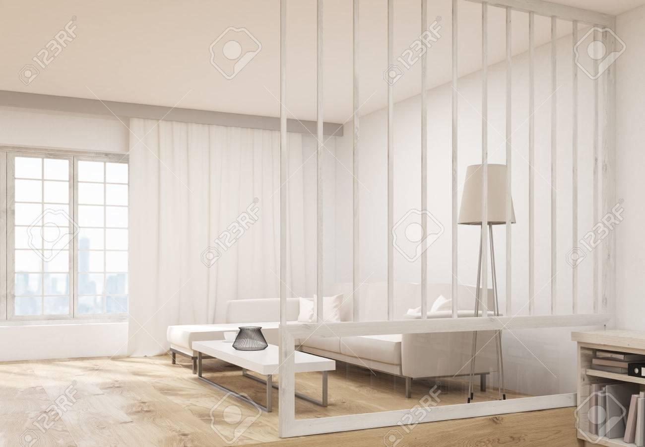 banque dimages vue de ct de salon design dintrieur avec un canap confortable une table basse lampadaire tagre et fentre avec des rideaux et de - Canape Confortable Design