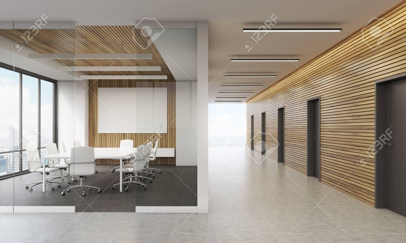 Réunion intérieur de la chambre dans le bureau contemporain dans
