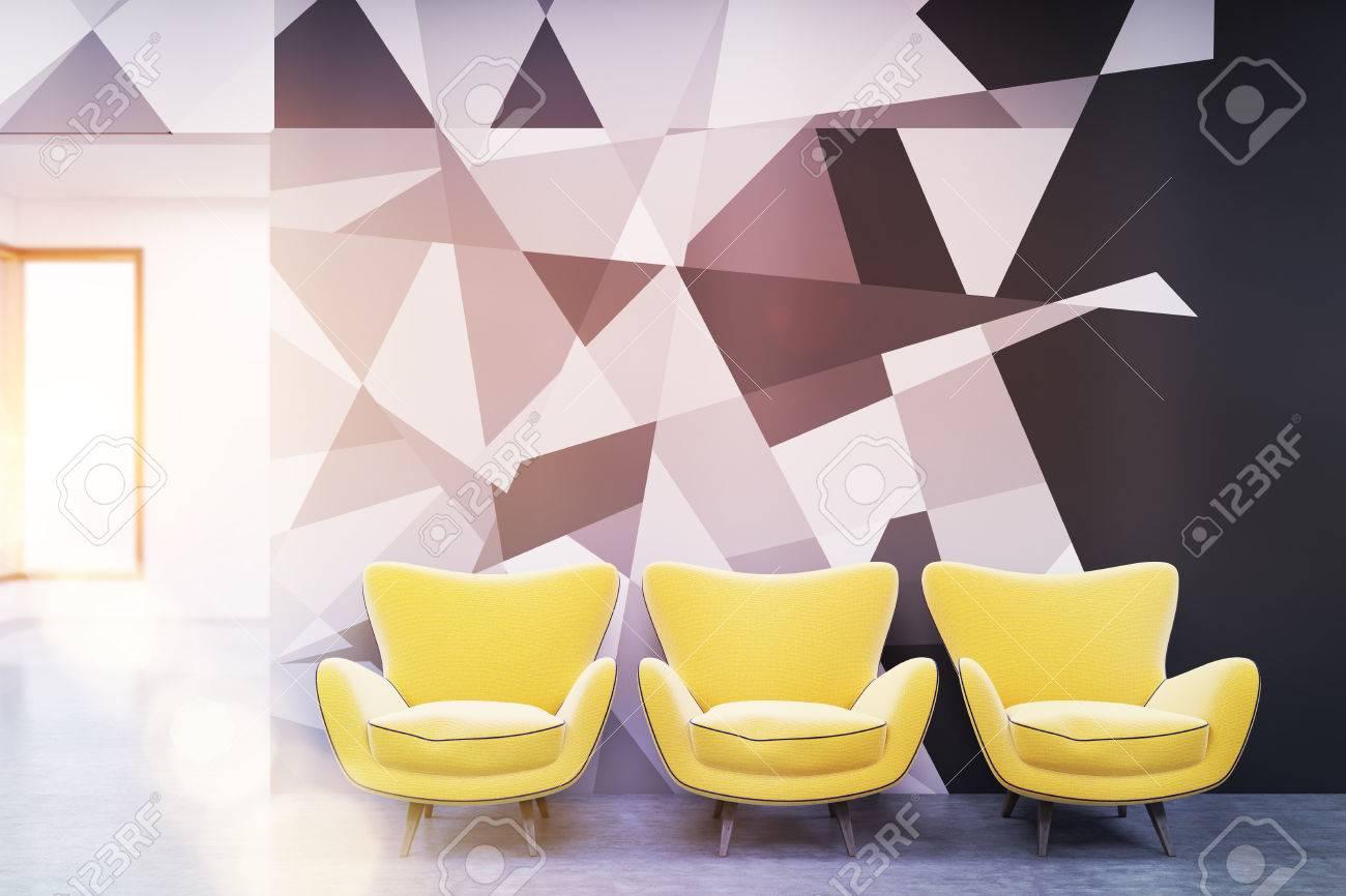 Salle d attente dans le bureau contemporain avec un soleil radieux