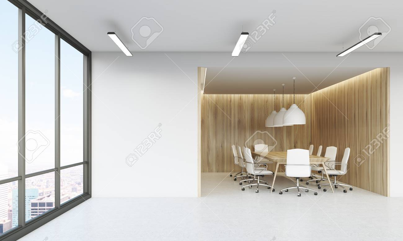 Panoramic Window In Office Lobby With Conference Room In Background Stock Photo Picture And Royalty Free Image Image 62365318