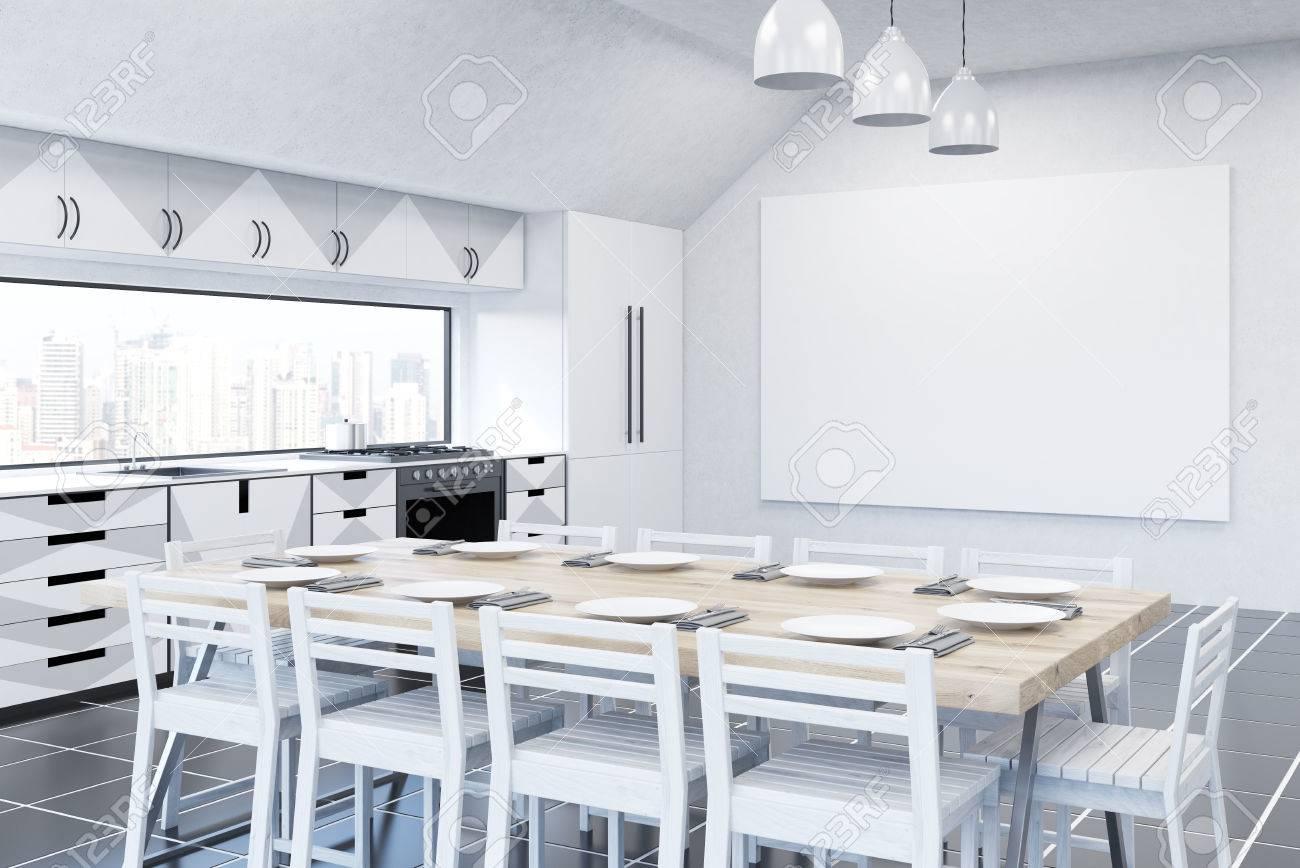 Cocinas Modernas En Blanco Y Gris En Segundo Lugar Es El Turno