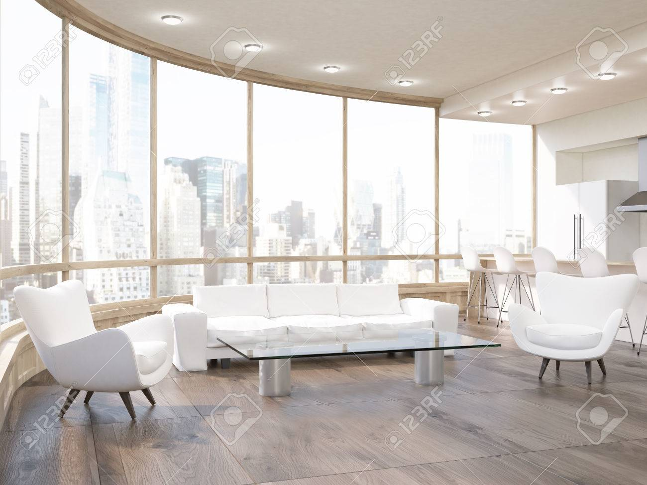 Phenomenal Modern Living Room In Round Building With Wooden Floor Sofa Theyellowbook Wood Chair Design Ideas Theyellowbookinfo