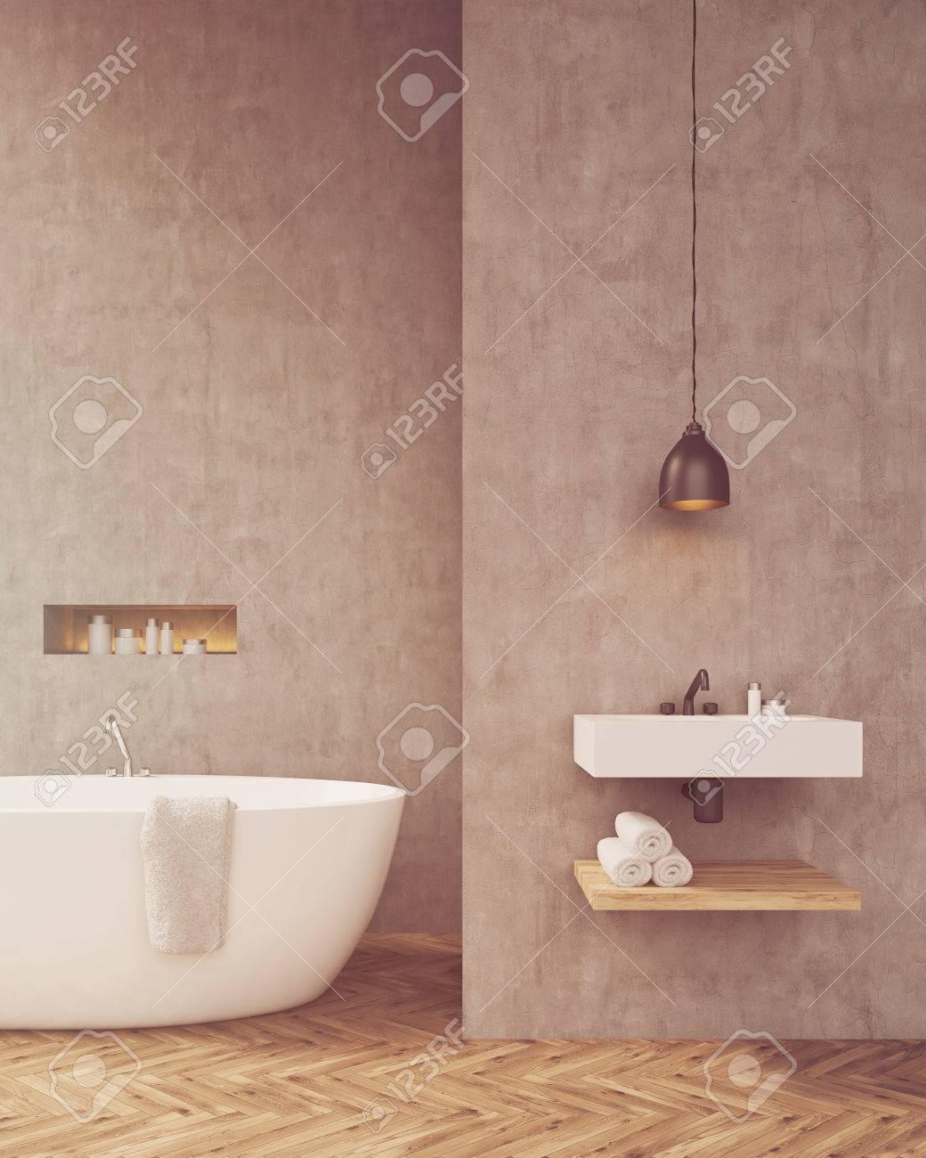 Ongekend Zonovergoten Badkamer Met Wastafel En Plank Voor Handdoeken YE-33