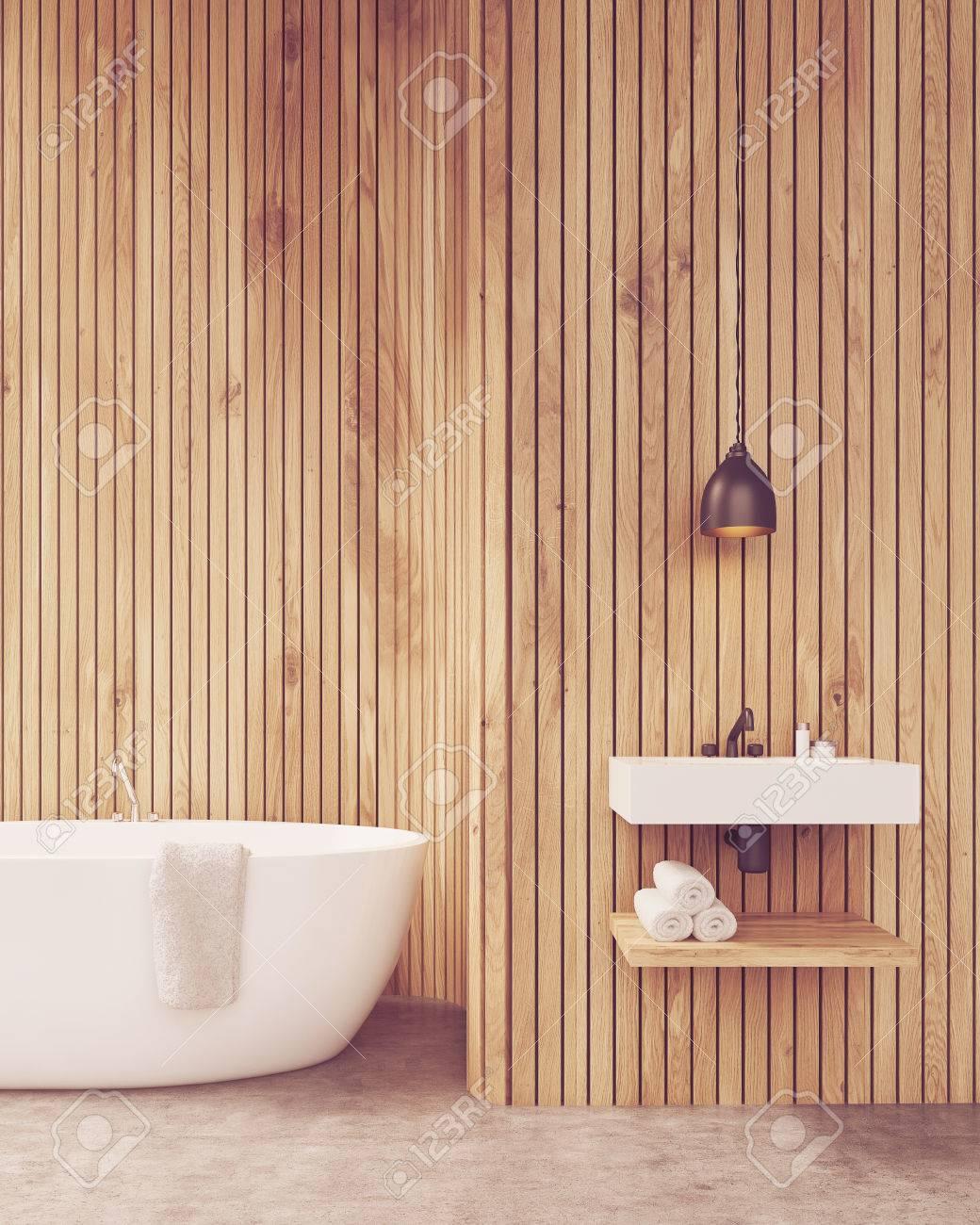 Pretty Badezimmer Holzwand Bilder Images # Bad Wandverkleidung Mit ...