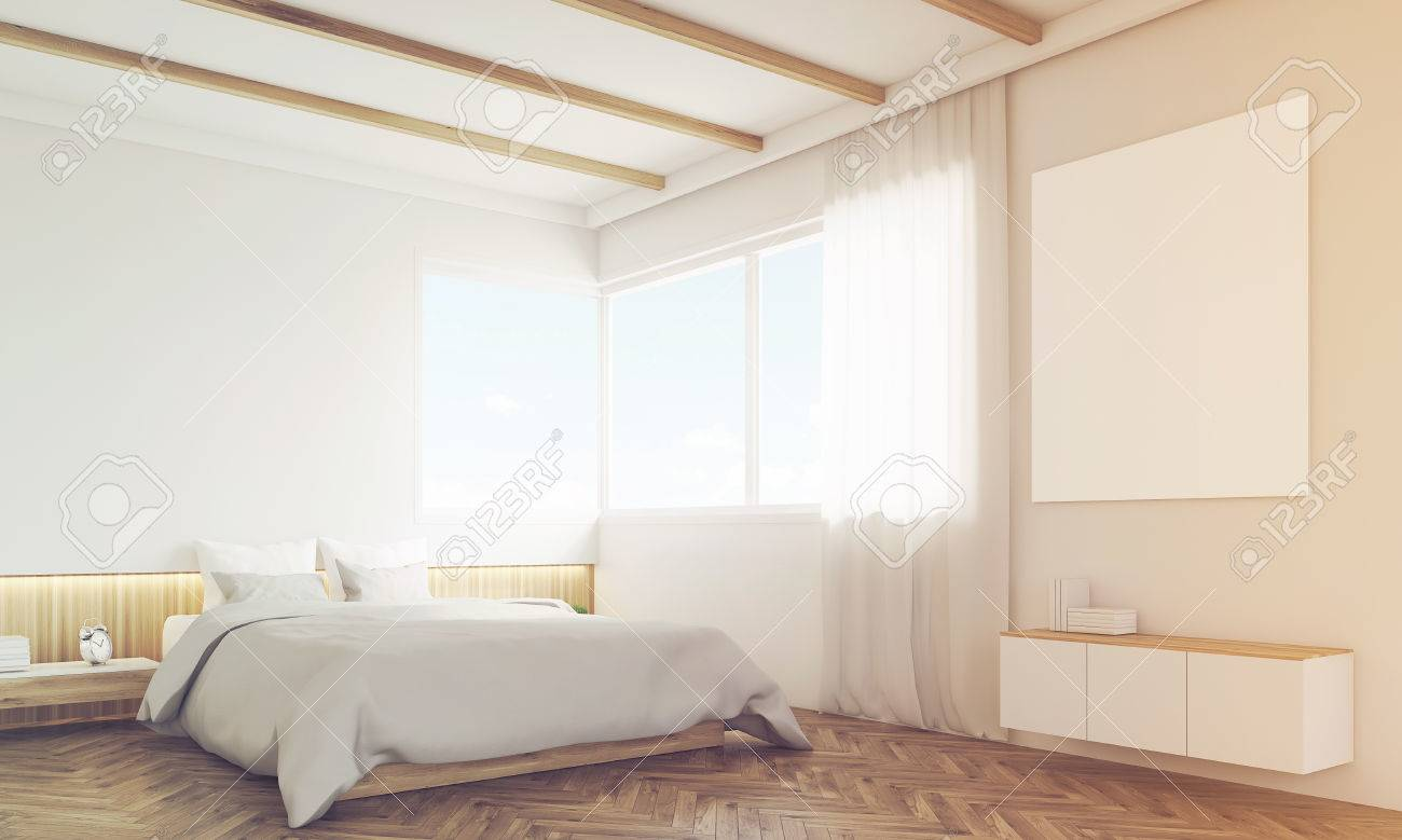 angolo della camera da letto con divano e il poster sopra il letto ... - Camera Da Letto Con Divano
