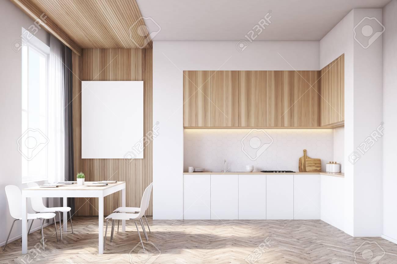Immagini Stock - Interiore Della Cucina Con Tavolo E Tavolo Da ...