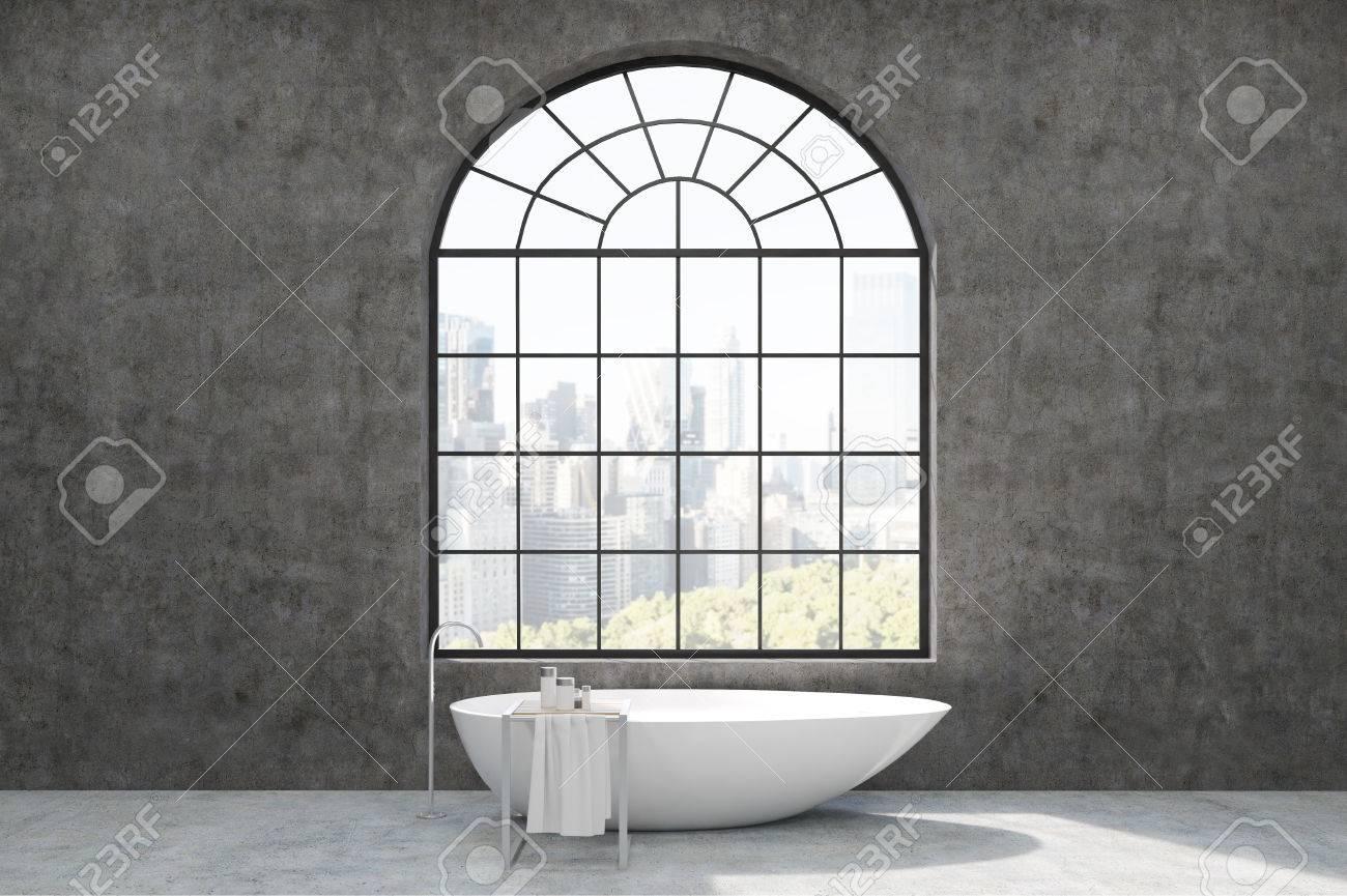 Vasca Da Bagno In Cemento : Immagini stock interni da bagno con pareti in cemento finestra