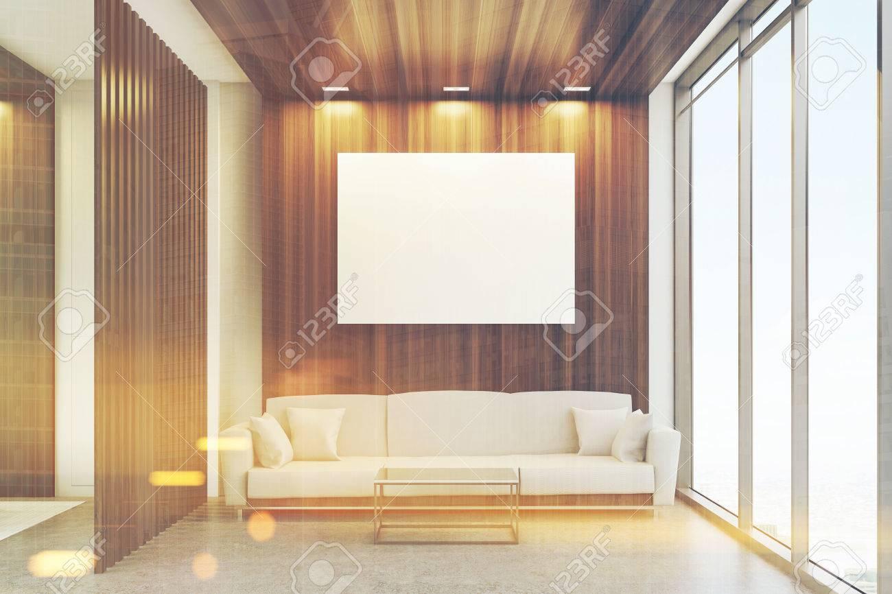 Salle d attente de bureau de luxe avec des éléments de décoration